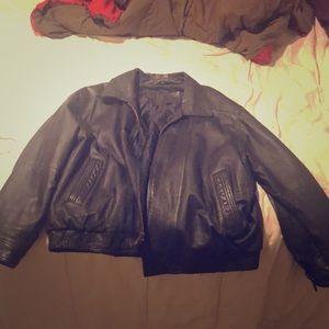 Expression Black Leather Jacket